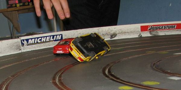 Bolwextric Scalextric slot car racing track circuit party